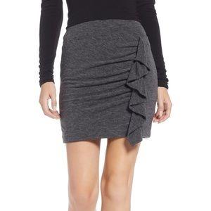 NWT Something Navy Knit Ruffle Mini Skirt